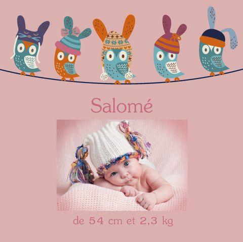 Faire-part magnet Salomé