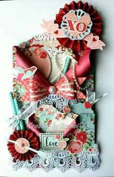 Loaded envelope using Kaisercraft Xoxo paper collection.