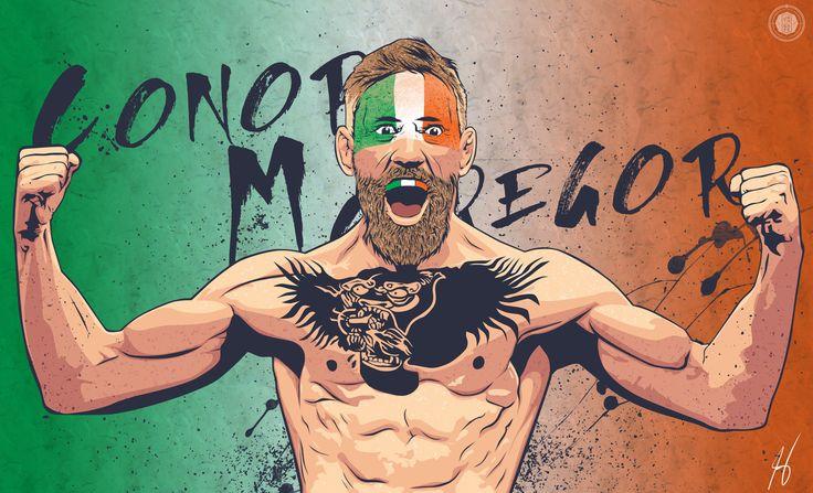 "Conor ""The Notorious"" Mcgregor , Justine Suarez on ArtStation at https://www.artstation.com/artwork/conor-the-notorious-mcgregor"