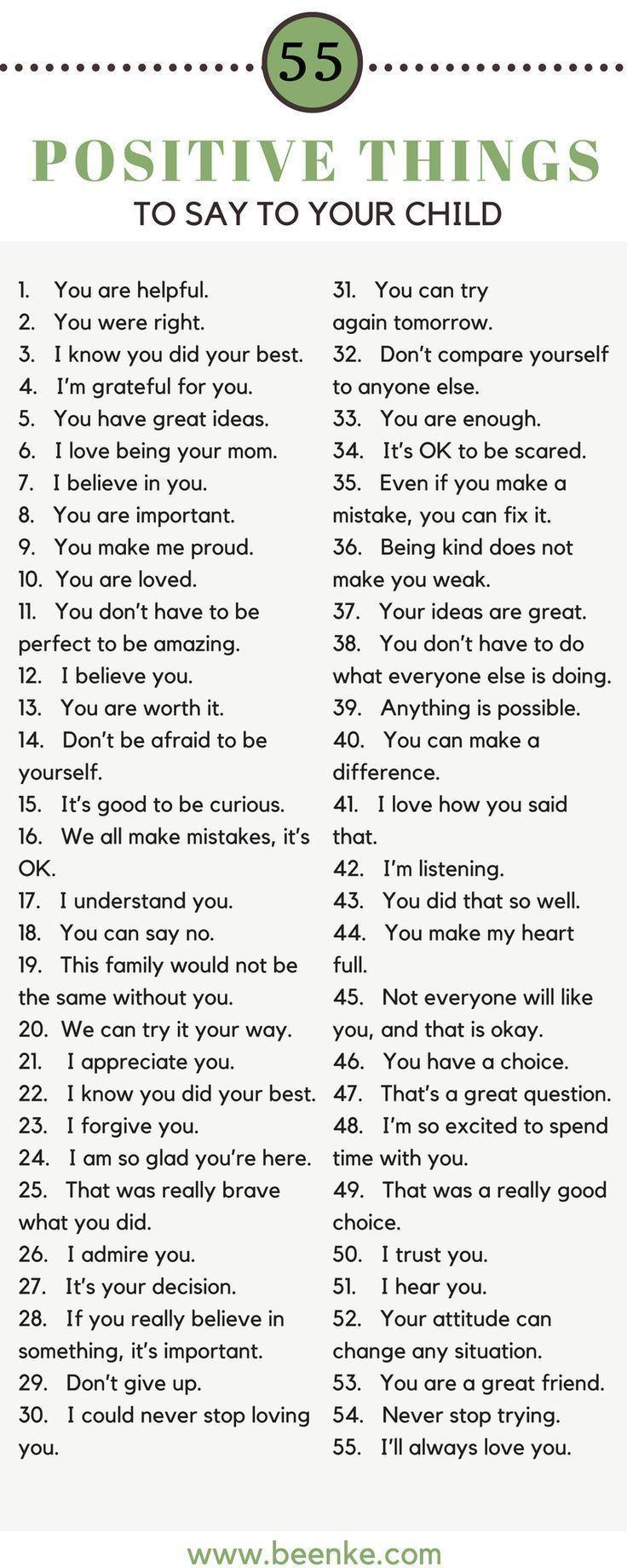 Vertrauen aufbauen! 55 Positive Dinge die Sie Ihrem Kind sagen sollten