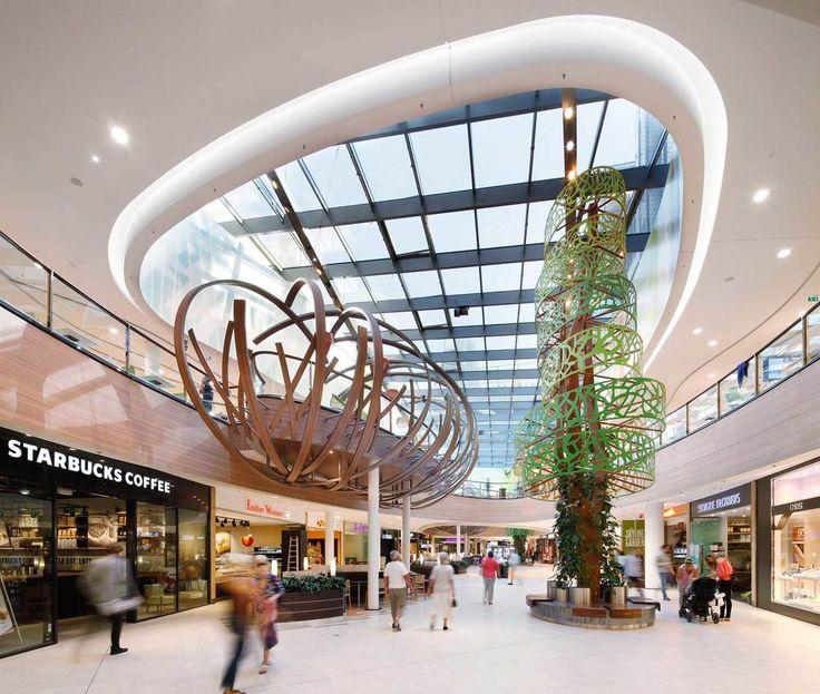 Skyline Plaza, Frankfurt, Germany  Interior design for 38,000m2 shopping centre arranged over two floors, housing more than 170 shops, alongside a large food court.