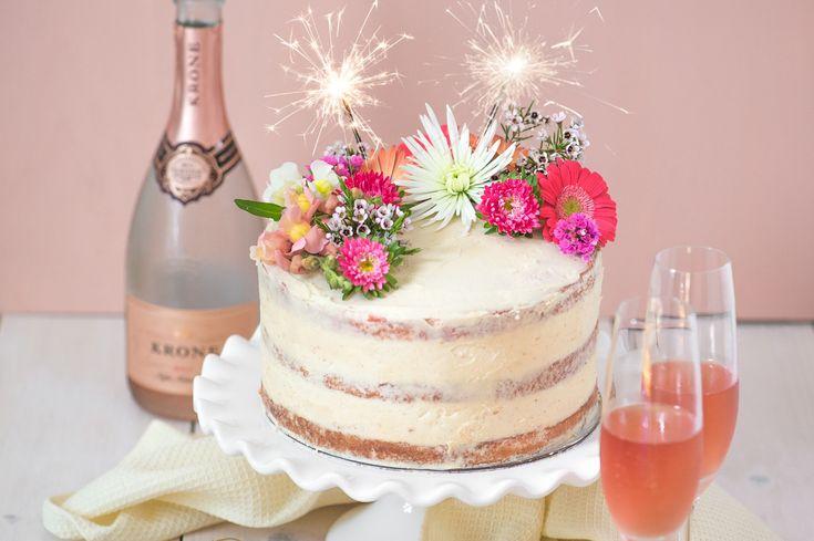 открытки торт шампанское цветы