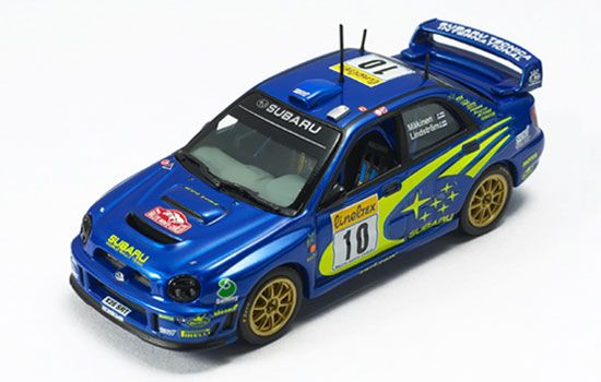 http://www.ixomodels.com/index.php/car/popup/228  Subaru Impreza WRC #10 K.Lindstrom-T.Makinen Winner Monte Carlo 2002