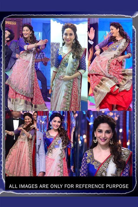 Wedding Bridal Madhuri Dixit Embroidered Bollywood Lehenga Choli