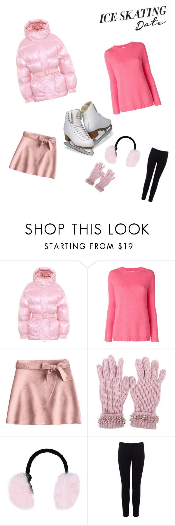 """""""Pink Ice skating"""" by emily-klaus ❤ liked on Polyvore featuring Ienki Ienki, Allude, Blugirl, Steve Madden, Warehouse and iceskatingoutfit"""