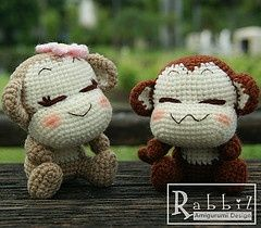 Amigurumi monkey - couple..