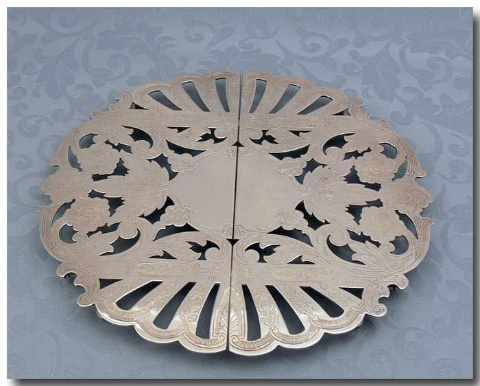 SILVER PLATED EXPANDABLE TRIVET…….ID: 71181