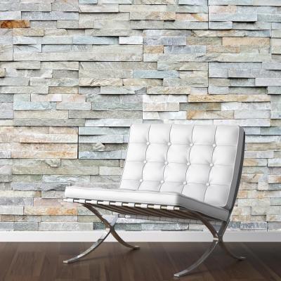 Adesivo Decorativo - Adesivo de Parede: Papel de Parede Pedra Rústica - Deccolar Adesivos Decorativos
