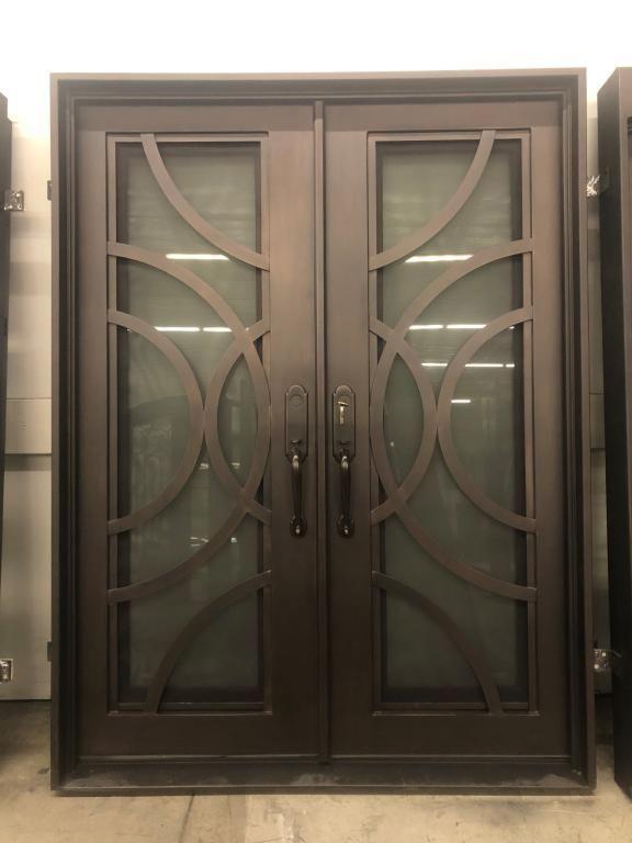 Chanel Modern Double Entry Iron Doors Universal Iron Doors Iron Doors Iron Door Design Wrought Iron Front Door