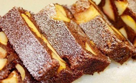 Prăjitura cu griș și mere este foarte ușor de preparat, dar și foarte delicioasă