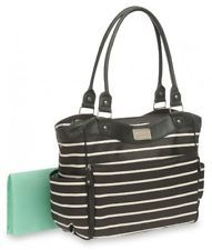 Carter's Zip Fashion Diaper Bag Front Stripe