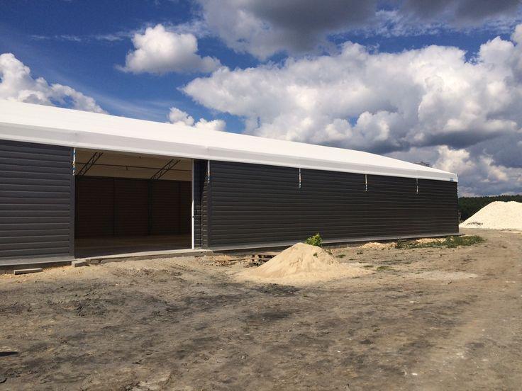 Storage structure in Lisowice Kolonia/ Hala magazynowa w Lisowicach Kolonia