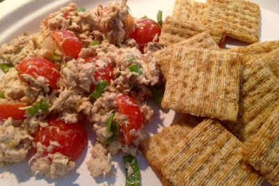 DISHING MEMORIES: Fresh Blackfin Tuna Salad with Crackers