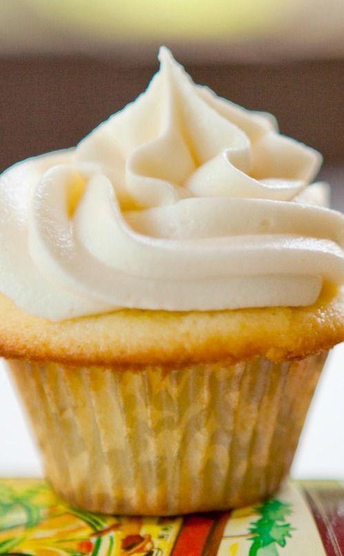 Rum Cupcakes with Caramel Rum Frosting Recipe