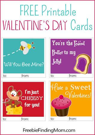 Free printable Valentine's Day cards - cuter than anything in stores! #ValentinesDay #printableValentinesDaycards #homemadeValentinesDaycards #Valentineprintables