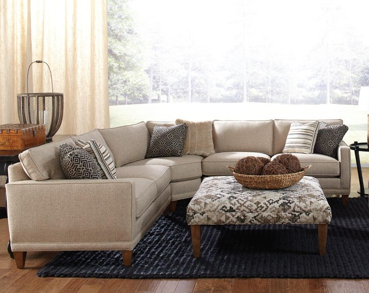 Best Rowe Townsend Contemporary 3 Piece Sectional Sofa 640 x 480