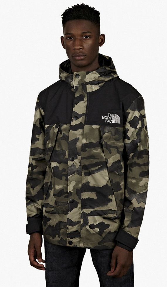 The North Face Metro Mountain Parka Olive Camo
