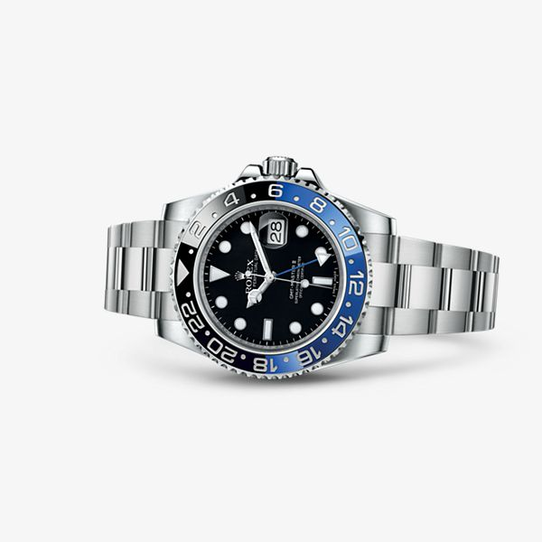 Discover the GMT-Master II watch in 904L steel on the Official Rolex Website. Model: M116710BLNR-0002