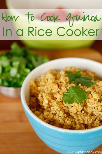 How to Cook Quinoa in a Rice Cooker -- yep, rice cookers