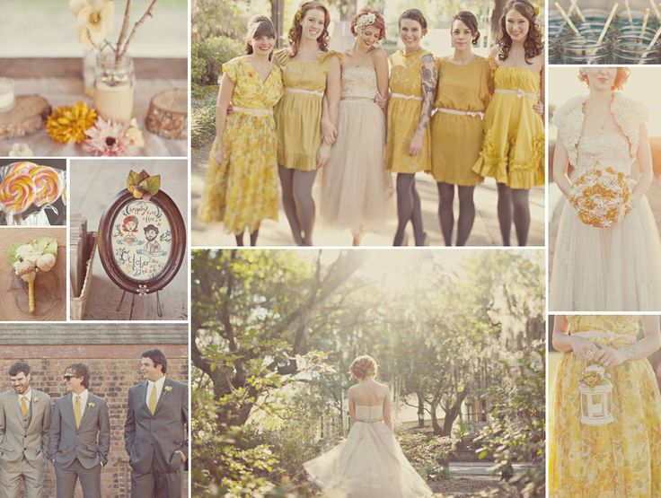 retro vintage yellow weddingColours Inspiration, Wedding Inspiration, Yellow Weddings, Girls Dreams, Vintage Wardrobe, Inspiration Boards, Gray, Vintage Yellow Wedding, Retro Vintage