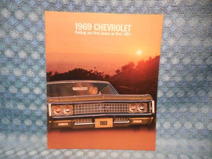 1969 Chevrolet Caprice Impala Bel Air Biscayne NOS Original Sales Brochure