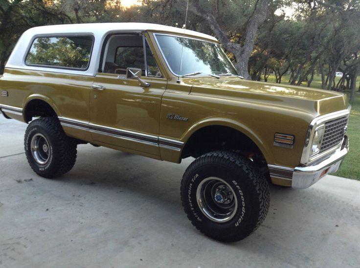chevy blazer k5 k5 blazer 72 chevy truck chevrolet trucks 4x4 trucks lifted trucks car stuff classic bfg tires