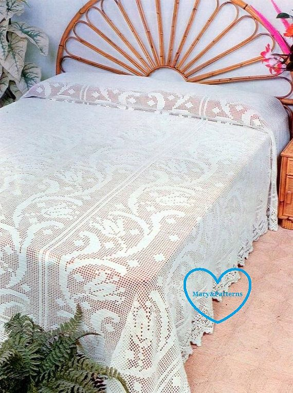 Crochet Flower Bedspread Pattern