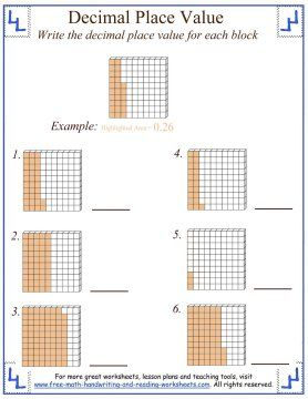 worksheet naming place value of decimals google search school math place value with. Black Bedroom Furniture Sets. Home Design Ideas