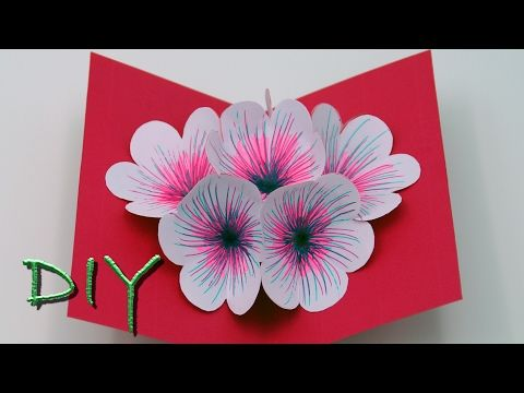 Basteln mit Papier: Pop Up Karten selber basteln - DIY, My Crafts and DIY Projects