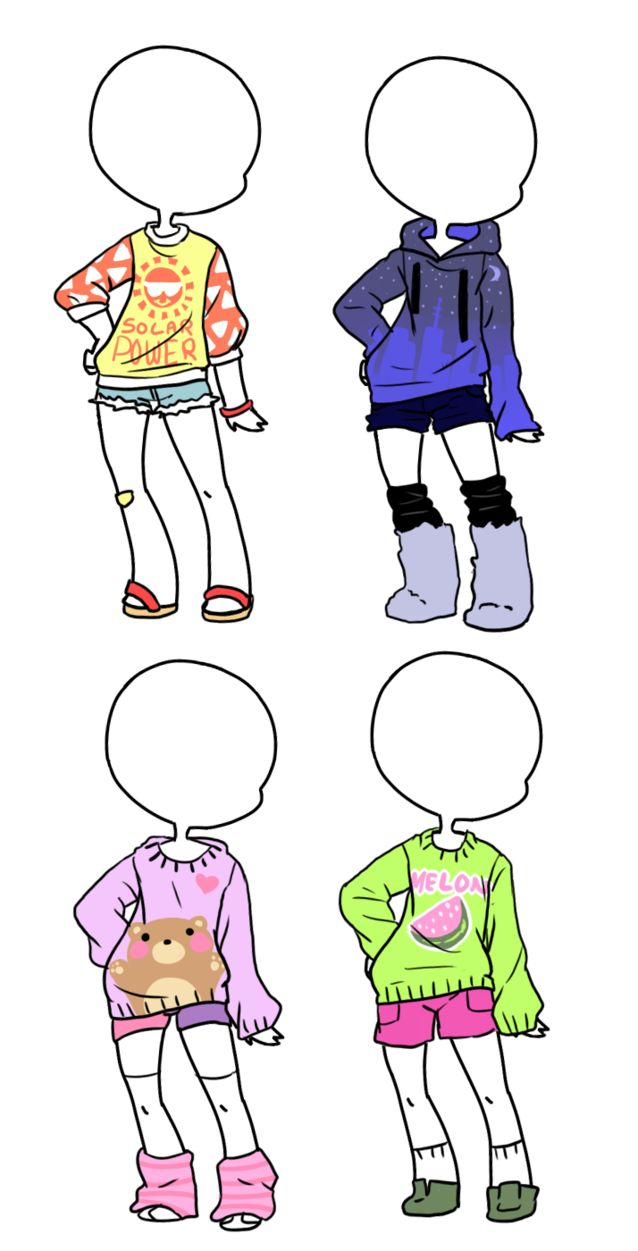 Sweaters and Shorts Adopts [closed] by Tenshilove on DeviantArt