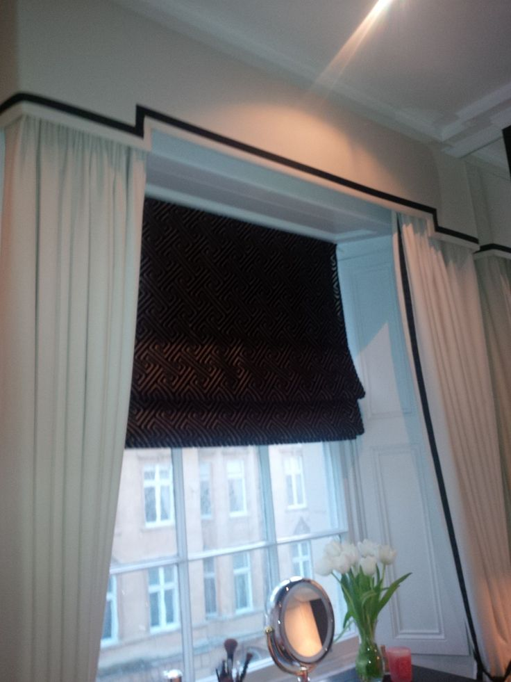 Dress curtains pelmet roman blind add some sheer Curtains venetian blinds