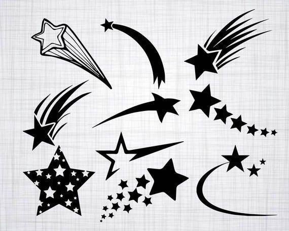 Shooting Star Svg Bundle Shooting Star Svg Shooting Star Etsy Shooting Star Drawing Star Svg Shooting Star Tattoo