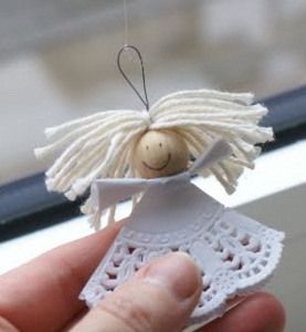 This delicate Paper Doily Angel is the perfect easy decoration to make and hang around your house and Christmas tree.
