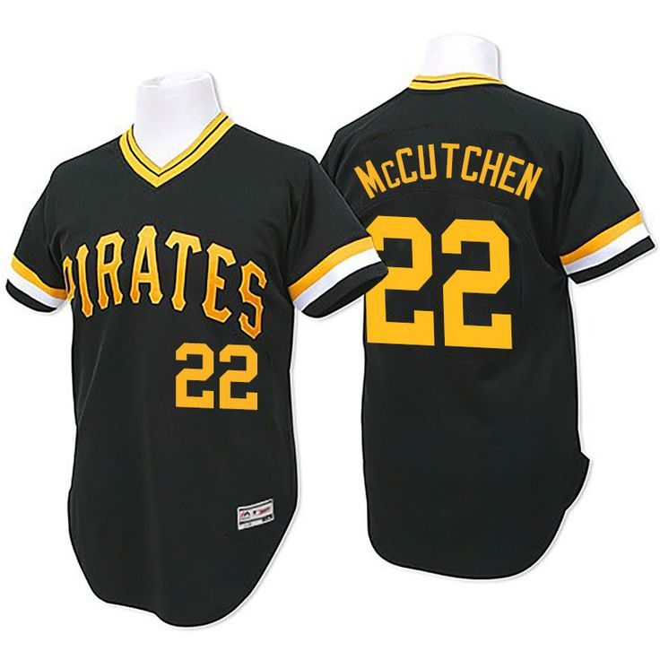 newest 3d60a 7711f pittsburgh pirates 22 andrew mccutchen black long sleeve ...