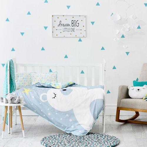 Adairs Baby Baby Bear Quilt Cover Set - Nursery Bed Linen - Adairs Kids online