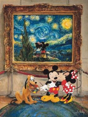 """""""Friends of the Classics""""   Size: 24 X 18    Hand-Textured Giclee on Canvas   Edition of 95   Disney Fine Art by Stephen Shortridge"""