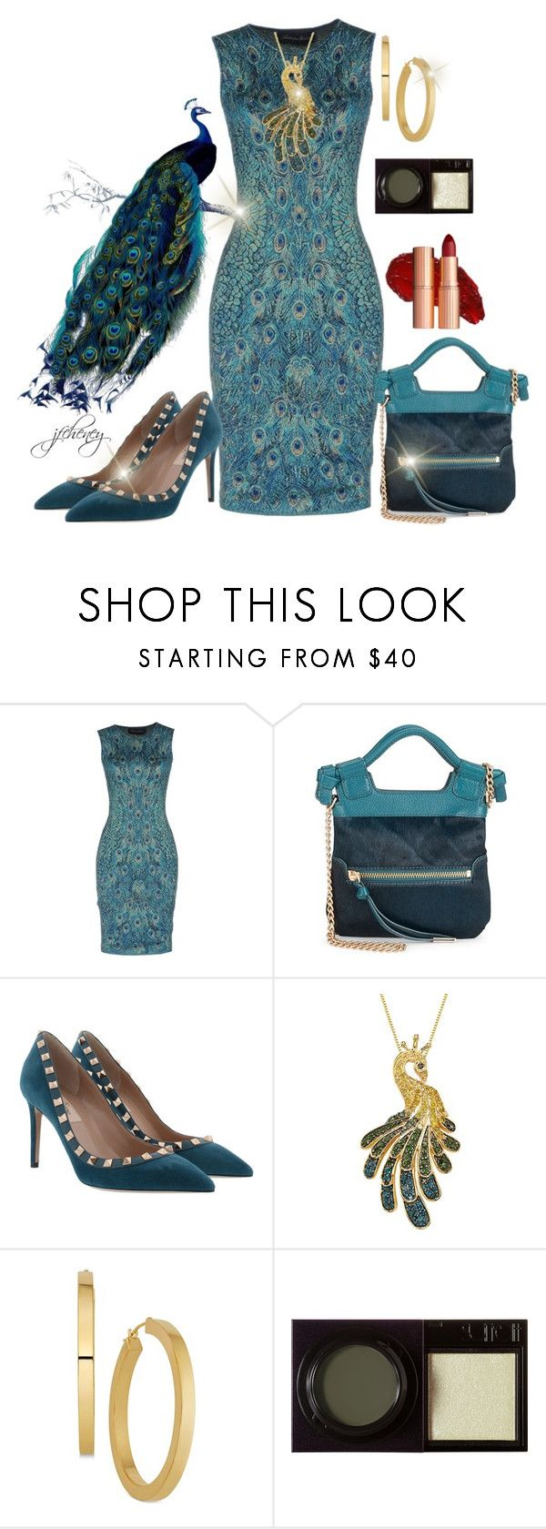 """Peacock Rocks"" by jfcheney ❤ liked on Polyvore featuring Antonino Valenti, Foley + Corinna, Valentino and Surratt"