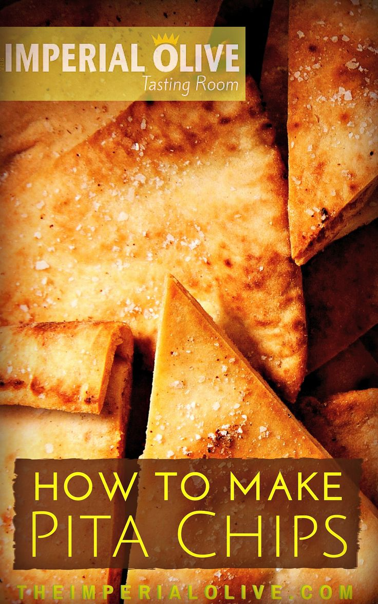 How to make pita chips at home! DIY recipe using extra virgin olive oil.