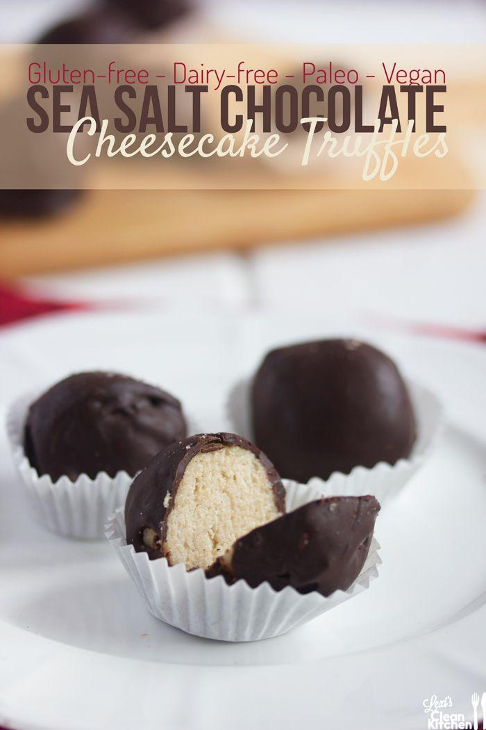Sea Salt Chocolate Cheesecake Truffles {gluten-free, dairy-free, vegan, and paleo}