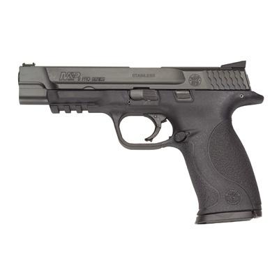 "Smith & Wesson M 9mm Pro  5"" barrel, fiber optic sight"