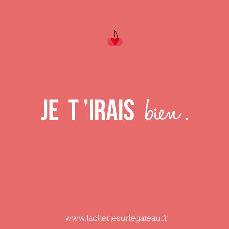 Mot doux du jour | La Chérie sur le Gâteau - Site d'inspiration de demandes en mariage originales  I would go well with you