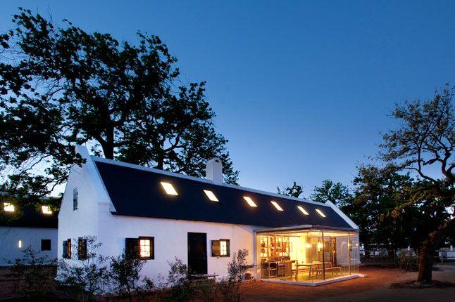 Babylonstoren cottage with illuminated kitchenette