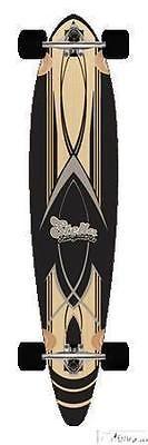 Longboards-Complete 165942: 46 Complete 8 Ply Maple Longboard Skateboard Pinstripe Black -> BUY IT NOW ONLY: $89.99 on eBay!