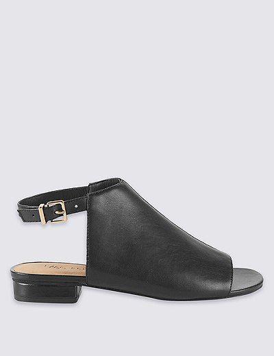 Block Heel High Vamp Sandals | Marks & Spencer London