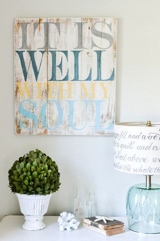 """It is well with my soul"" Wood Sign {customizable} - Aimee Weaver Designs"