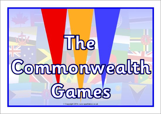The Commonwealth Games display poster (SB10469) - SparkleBox