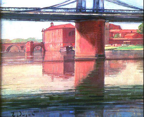 Eugène Pujol, artiste peintre : Toulouse : le pont Saint-Pierre