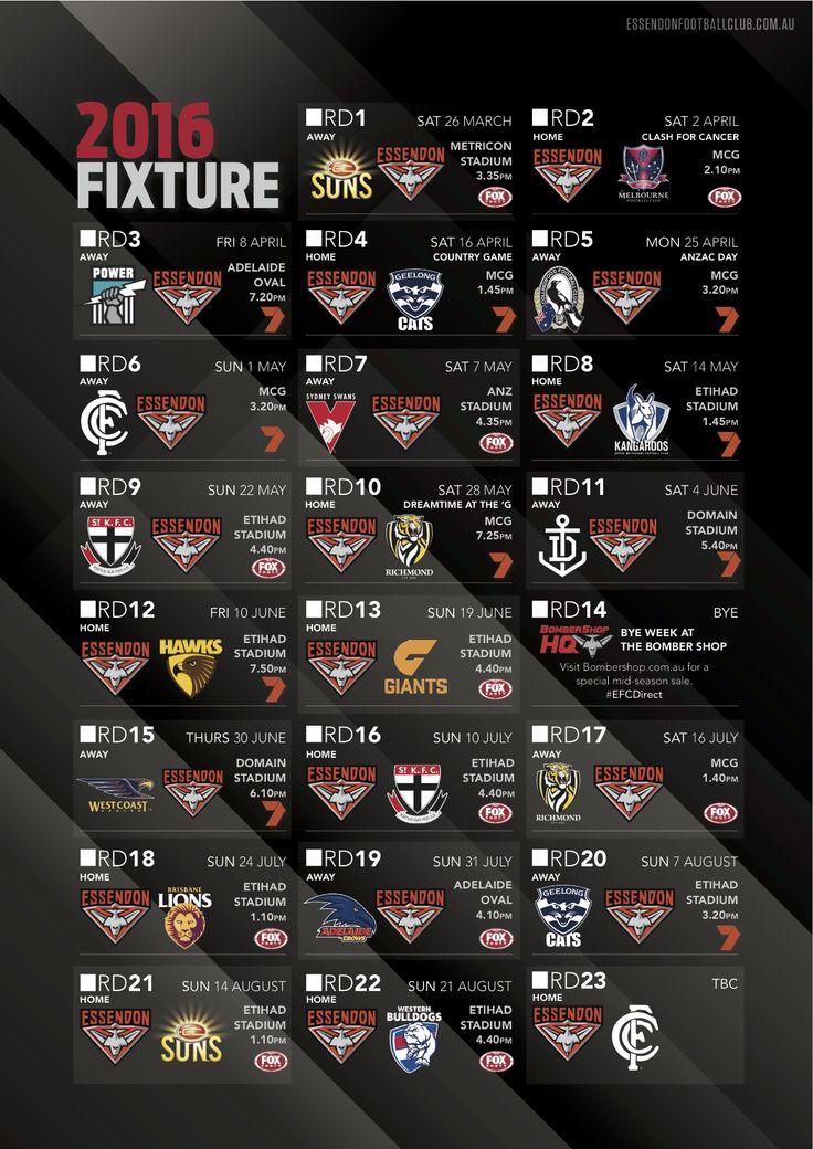 2016 Essendon Fixture