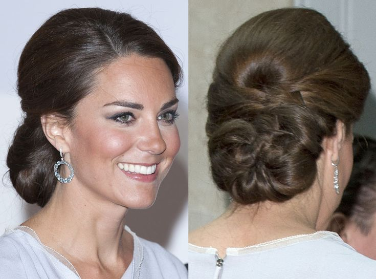 If plaits aren't really your style, Kate's still got you covered. She rocked this twisted version which was a close cousin to her braided 'do