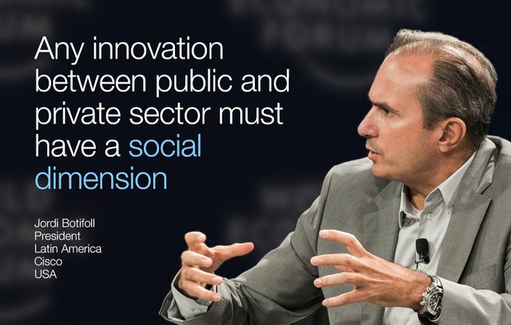 Any innovation between public and private sector must have a social dimension. - Jordi Botifoll